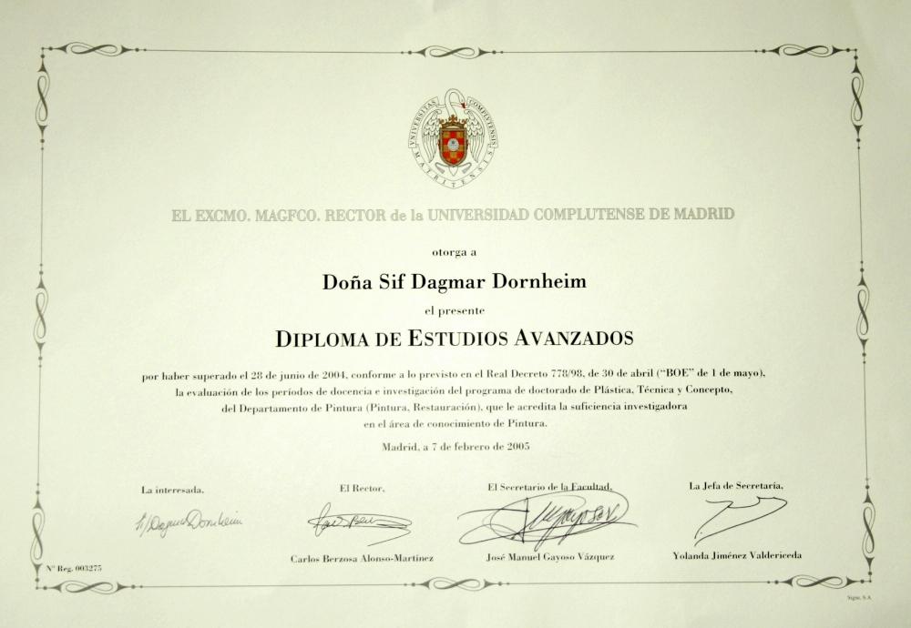 spanisches diplom